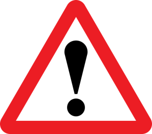 Warning_(Photo Credit: Wiki) UK_traffic_sign