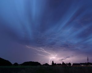 A thunderstorm above Unna, in Germany