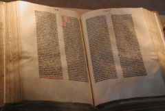 Gutenberg Bible (Photo Credit: Wiki)