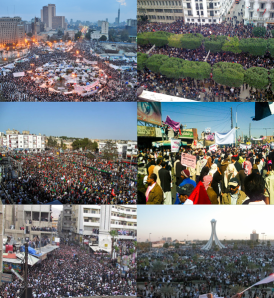 arabic_protests (Photo Credit:Wiki)